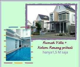 Villa Mewah 2 lantai plus Kolam Renang DP All In 80Jt Cimahi Bandung