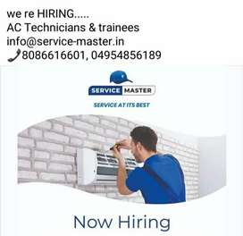 Hiring technicians and Traines