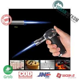 TS-19 Korek Api Gas Refillable Butane Torch Model Adjustable Flame Gun