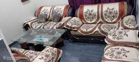 Three sofa ,one seaty and one table