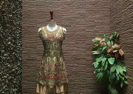 FANCY 3PC HANDMADE EID/ PARTY/BRIDAL WEAR WITH SHARARA (one size)