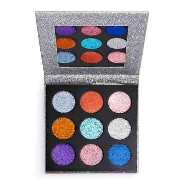 Make up, Revolution brand, eyeshadow Pressed Glitter Palette Diva 0