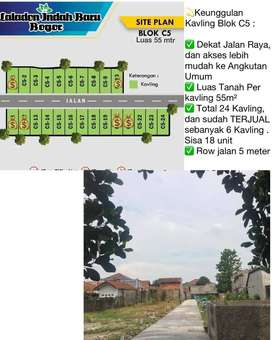 Jual tanah kavling di Bogor Ciomas Laladon siap bangun rady stok