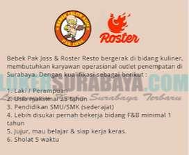 Lowongan Kerja Roster Resto