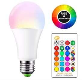 Lampu Warna RGB Remote E27 5 watt murah