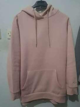 Hoodie pink ukuran > L