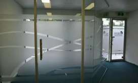 Interior custom untuk kaca Stiker Sanblas dan Kaca Film buat ruangan