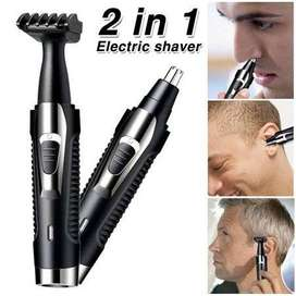 Kemei Hair Trimmer 2 in 1 Rechargeable Nose Beard Hair Trimmer