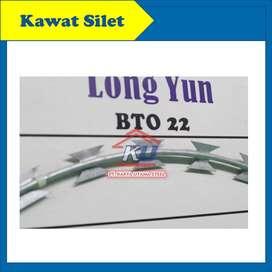 Kawat Duri Silet Razor Wire BTO 22 Diameter 45cm Surabaya
