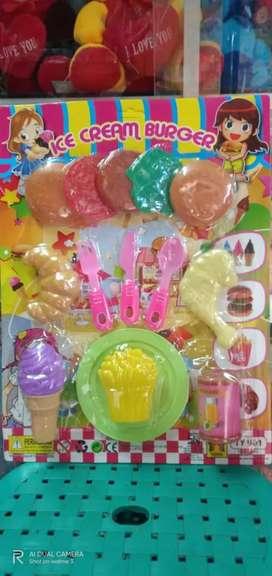 Mainan ice cream burger