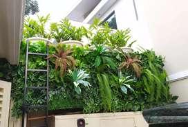 Taman Dinding Daun Plastik Vertikal Garden/ Taman Tembok