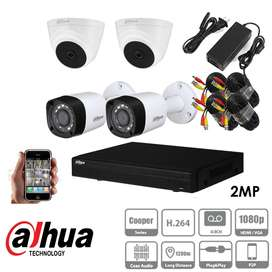 4 2MP CCTV cameras package and more