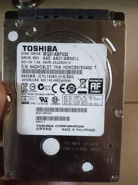 Wts hardisk Toshiba 320Gb, kondisi Joss, aman 100%, no bad sector