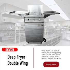 Deep Fryer Gas Dengan Pengatur Suhu Otomatis Anti Gosong