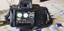 DSLR nikon D5200 ,18-55 lens + 55-200 lens
