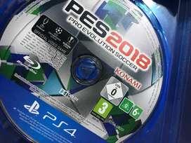 Dijual CD/BD game utk PS4, PES2018. Kondisi normal dan lancar