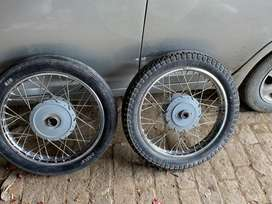 Bullet rim brand new condition with both tyres
