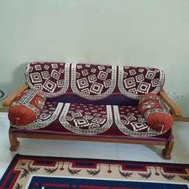 Teak wood Sofa 3+1+1