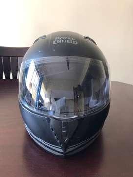 Royal enfield full face helmet black with dust proof bag