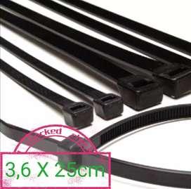 Cable ties 3,6 x 25cm / kabel tis tali krek klem segel ikat