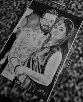 Best and affordable gift for your loveone painting,sketch and portrait