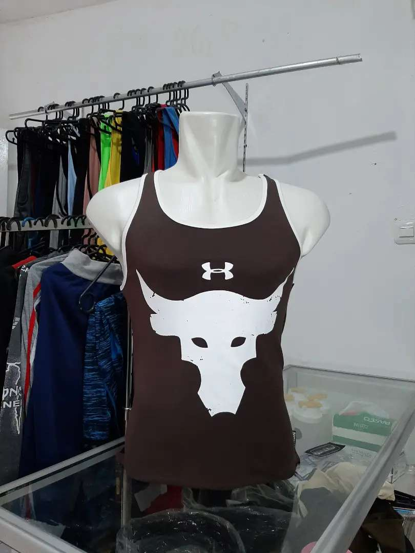 Singlet Under Armour. Singlet UA Gym. Aksesoris Fitness Palembang