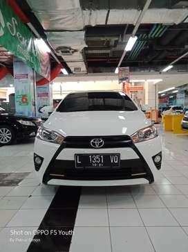 Toyota Yaris G 2015 putih metik no manual harga kredit km rendah murah