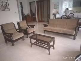 ROSE WOOD 3+1+1seater sofa+1 common wood teapoy