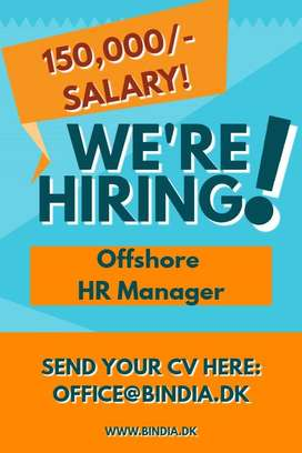 Offshore HR Manager (150,000 SALARY!!)