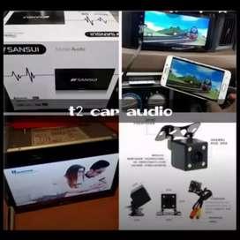 Ajib Dvd 2din SANSUI JAPAN terbaru android link 7inc full hd+camera hd