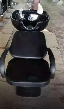Fiber Basin And ceramic Basin Chair