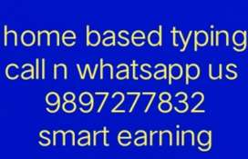 Only typing speed needed ( smart earning )