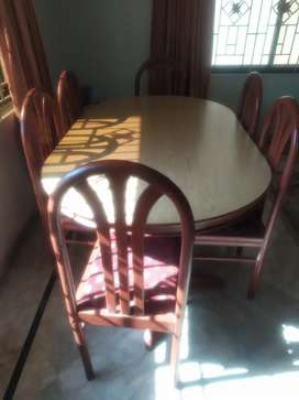 Dining table with 6 Chair (Oak Wood)