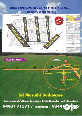 ^hurry up% Area 1200sqft plot/ TUDA approved