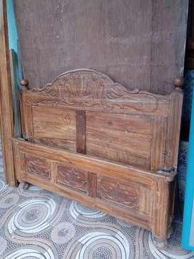 Teak wood cot. Four into six