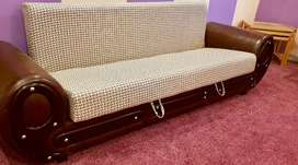 Brand new condition_Sofa_Cum-Bed beautiful,bed dining table almari
