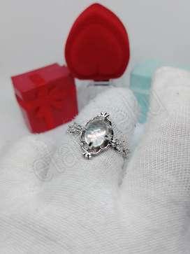 Cincin wanita silver Moonstone water droplets