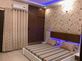 Spacious 3bhk Fully furnished flat with furniture at Zirakpur