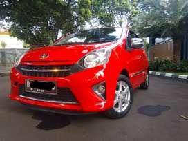 Toyota Agya G Matic 1.0cc Merah 2015 TDP 5jt Angsuran 2.800an 4thn