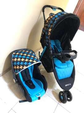 Preloved stroller free carseat babyelle bravo Ts