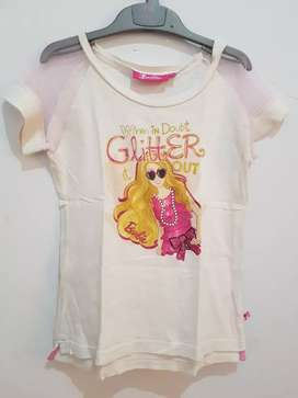 Kaos anak perempuan Barbie uk 6 nett