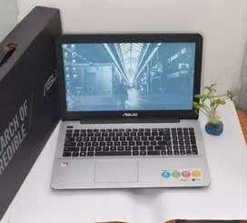 Laptop Gaming X555B Amd A9 Ram 4GB VGA 2GB fulset msh garansi
