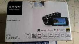 Handycam merk sony tipe PJ380E HDR
