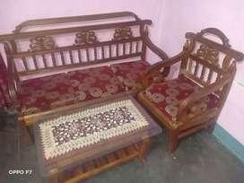 Sofa set and showcase