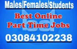Males/Females/students need for online part time working