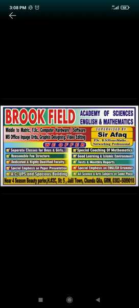 Home tuition available for Matric to F.sc B.sc Mathematics...