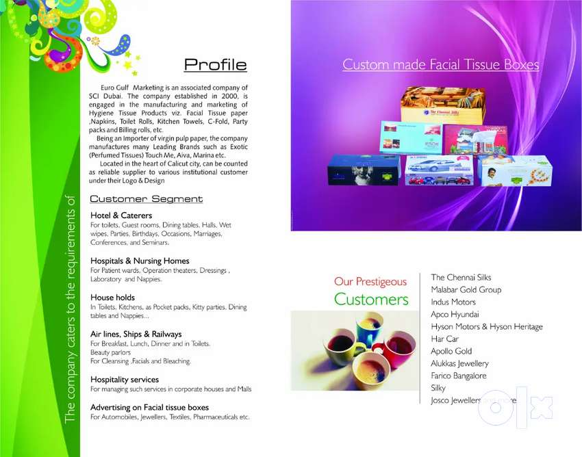 Sales executive for marketing tissue paper products 0