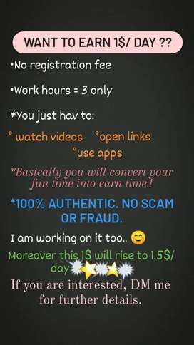 Online work without any investment