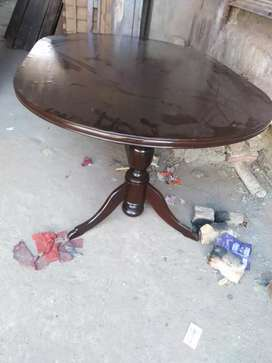 Dining table with six chair new condition