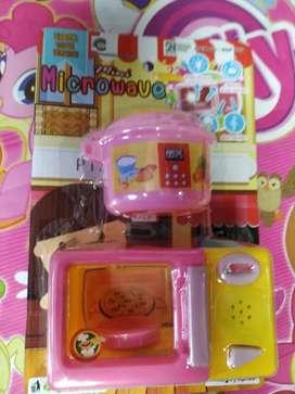 mainan anak baru microwave menyala